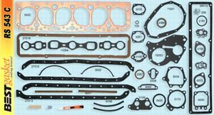 Chevy Gmc 235 Full Engine Gasket Set Best 1953 63 Copper Head Manifold Oil Pan
