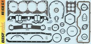 Chevy 409 Full Engine Gasket Set Best Head Intake Exhaust 1962 65 H P Performer