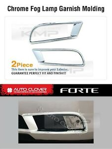 Foglight Chrome Cover Molding Trim B617 Fit Kia Cerato Forte Sedan 2010 2012