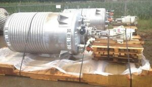 600 Gallon Lee Reactor Tank W 1 2 Pipe Jacket High Speed Greerco Disperser