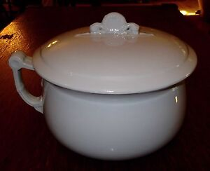 Alfred Meakin Royal Ironstone Chamber Pot W Lid 1881 97 Near Fine Condition