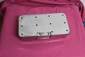 Or Grade Sterilization Cassette Box 4 X 8 With Silicone Pad Surgical Instrumet