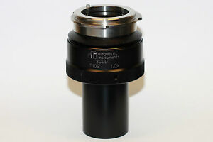 Diagnostic Instruments T10s 3ccd 1 0x Camera Coupler Mint Condition