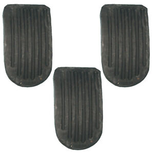 New Brake Clutch And Accelerator Pedal Pad Set Of 3 Pads For Mgb 1968 1974
