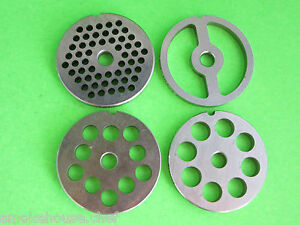 8 4 pc Set 4 Grinding Plates For Lem Cabelas Mtn Etc Meat Grinder Or Mincer