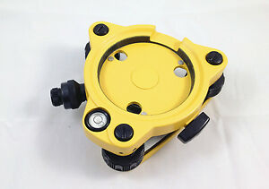 New Three jaw Topcon Type Yellow Tribrach With Optical Plummet For Total Station