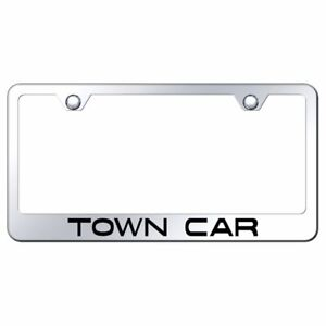 Lincoln Town Car Mirrored Chrome Stainless Steel License Plate Frame