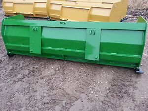8 Ft New Snow Pusher Plow Back Hoe Bobcat John Deere Compact Kubota Tractor