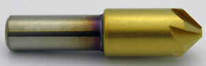 1 90 Degree 6 Flute Cobalt Tin Coated Countersink Melin Usa 18238