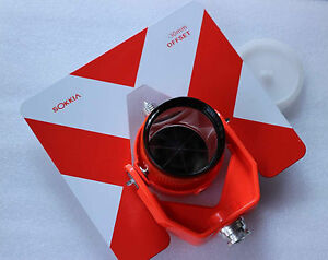 New Red Target Single Tilt Prism W bag For Sokkia Total Stations Red Color