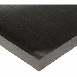 Acetal Copolymer Sheet extruded Black 24 X 24 X 1 Thick nominal