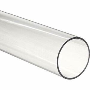 48 Polycarbonate Round Tube Clear 2 3 8 Id X 2 1 2 Od X 1 16 Wall nominal