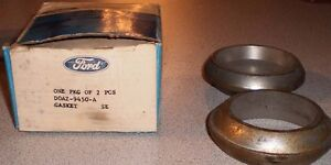 Nos Pair Of Obsolete Oe Ford Steel Exhaust Donut Gasket Torino Marquis Meteor