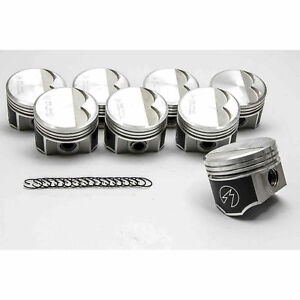Speed Pro trw Chrysler dodge 340 Forged Flat Top Pistons Set 8 1968 71 030