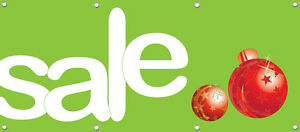 Sale Banner Sign Holiday Season Retail Store Sale Signs Multi Color 96in X 36in