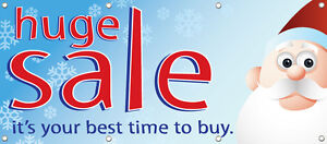 Huge Sale Banner Sign Retail Store Sale Signs New Multi Color 96in X 36in