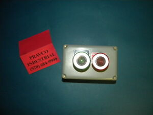 Square D 9001 ky 2 Enclosure With Green Push pull Button Red Push pull Button