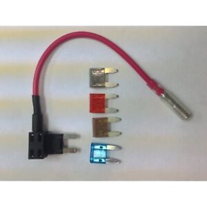 Mini Blade Fuse Tap Holder Add A Circuit Line Atm Apm 2a 5a 10a 15a Fuses