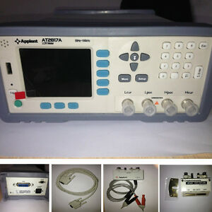 New At2817a High Precision Digital Lcr Meter 50hz 100khz