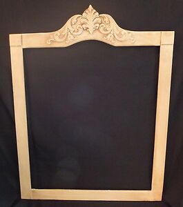 Antique Vintage Mirror Frame Carved Detail Painted Shabby D Cor