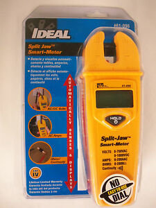 Ideal Split Jaw Automatic Smart Meter Multimeter Lifetime Warranty 61 096 new