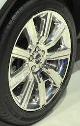 Range Rover Evoque Oem 20 Style 6 Wheels Polished 9 Spoke Silver Alloy Set Of 4