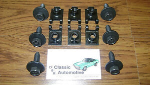 Leaf Spring Bracket Mounting 12pc Kit Bolts J Clips Camaro Firebird Nova