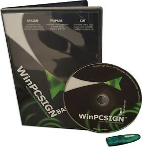 New Winpcsign Basic 2009 For Vinyl Plotter Cutter Software Titan Uscutter Gcc