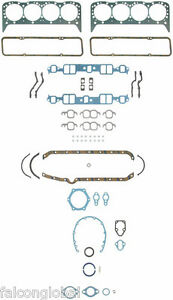Chevy 265 283 302 307 327 350 Fel Pro Full Gasket Set Head Intake Exhaust 57 79