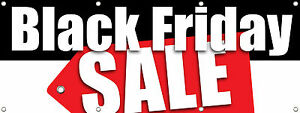 Black Friday Sale Banner Sign 96 X 36 multi Color Retail Store Sale Signs