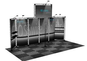 Trade Show Booth Display Custom 10 X 20 Pop Up Truss Display Composite Crosswire