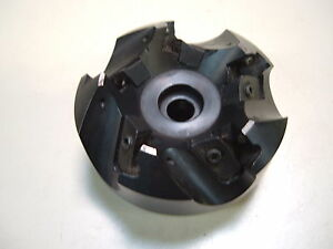 Kennametal 3 Diameter Face Mill Holds 5 Square Inserts With Hole