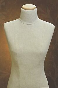 Mannequin Torso Dress Form Calico Cotton Bust Paper Mache pin able For Stores