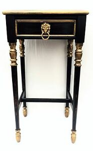 Antique Furniture Vintage Nightstand Side Table Chic Country French Provincial