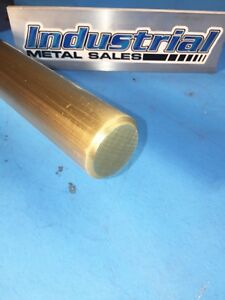 1 1 2 Diameter X 12 long 360 Brass Round Bar 1 5 Dia 360 Brass Lathe Stock