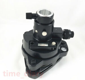 New Black Tribrach adapter With Optical Plummet For Surveying