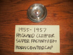 1955 1957 Packard Genuine Factory Steering Wheel Horn Center Cap Free Shipping