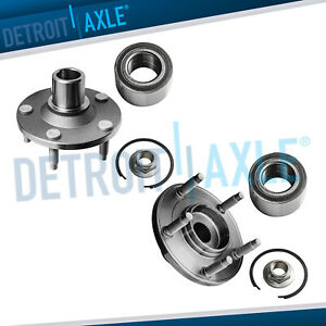 Front Wheel Bearing Hub Set For 2001 2010 2011 2012 Ford Escape Mazda Tribute