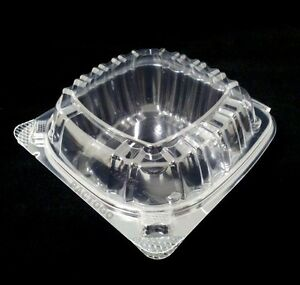 Dart 6 Clear Hinged Plastic Food Take Out To go Clamshell Container 100 Pack
