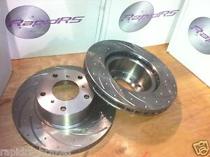 Slotted Disc Brake Rotors To Suit Mitsubishi Evo 4 5 6 7 8 9 Front Pair