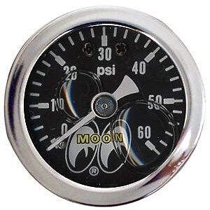 Mooneyes Pressure Gauge 0 60 Lbs Rat Hot Rod Custom Motorcycles Vw Buggy
