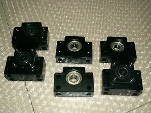 3 Set Cnc Ballscrew End Support Bk12 Fixed Bf12 Floated Side Bearing Block Mount