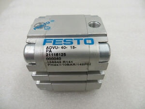 Festo Advu 40 15 pa Double Acting Pneumatic Air Compact Cylinder New