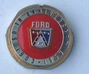 1953 53 Ford 50th Anniversary Car Horn Button Plastic New