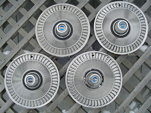 1964 64 Ford Galaxie Hubcaps Wheel Covers Center Caps Fomoco Vintage Classic Rim