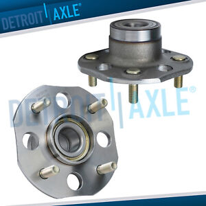 Pair Rear Wheel Bearing Hubs For Drum W o Abs 1998 2001 2002 Honda Accord 2 3l