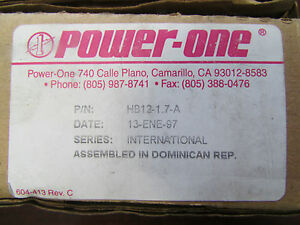 Power One Hb12 1 7 A Power Supply