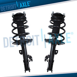 2 Front Quick Install Strut Coil Spring For 2007 2011 Toyota Camry Avalon