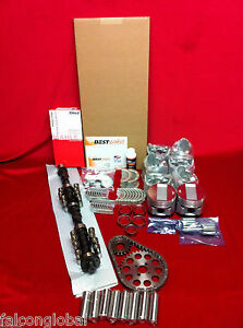 Cadillac 390 Master Engine Kit Pistons Rings Cam Lifters Gaskets Bearings 59 62