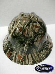 New Custom Msa Vgard boneyard Legends Camo Full Brim Hydro Dipped Hard Hat